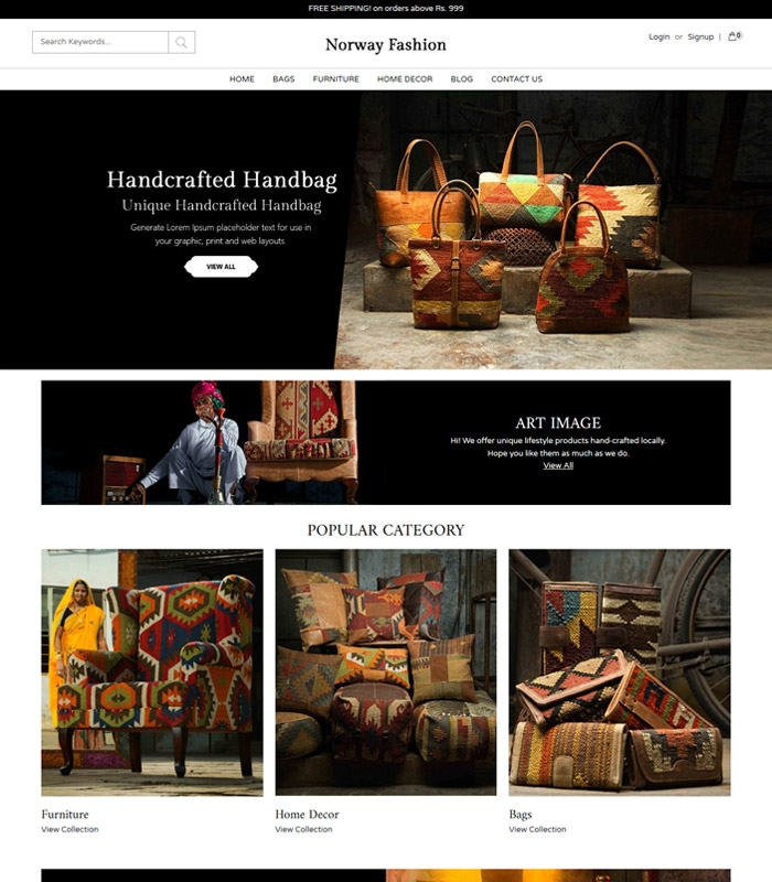 Online Store Template | Ecommerce Website Templates